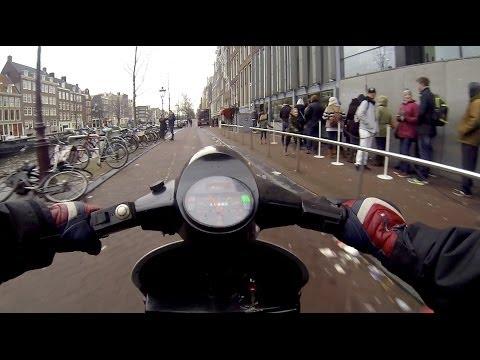 Vespa PK50 - from Amsterdam to Rotterdam.