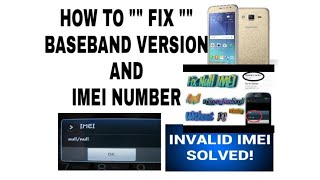 J710F & FN Unknown Baseband & Imei Restore Fix