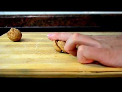 How to crack a walnut with your hands using only two fingers