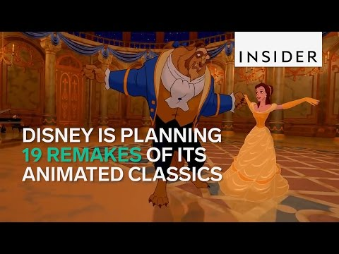 Which classic Disney animated movies are being remade?