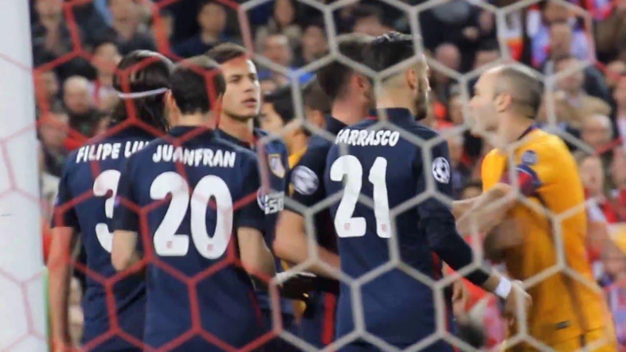 Atleti gana al Barcelona Champions 2016 impresonante la afición