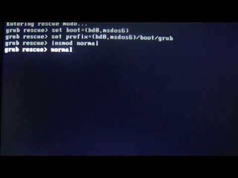 Boot into Windows 8/7/XP in Grub Rescue Mode.