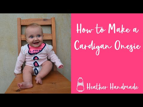 How to Make a Cardigan Onesie