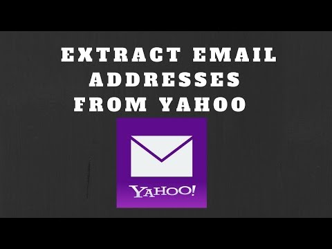 How to Extract Email Addresses from Yahoo Mail Account?