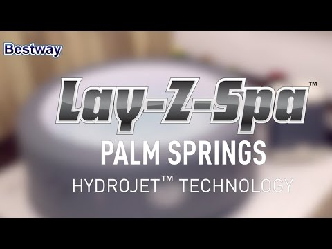 Bestway Lay-Z-Spa™ Palm Springs HydroJet Spa Promo Video - 54144