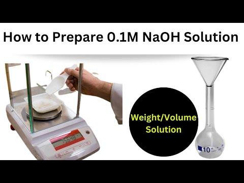 how to make 0 1 molar NaOH solution