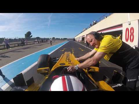 Driving Renault F1 car for the first time at Paul Ricard circuit France 26-10-2017