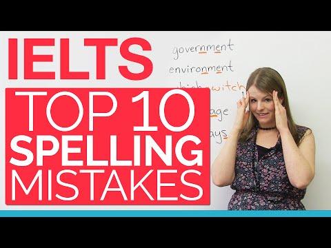 IELTS: Top 10 Spelling Mistakes
