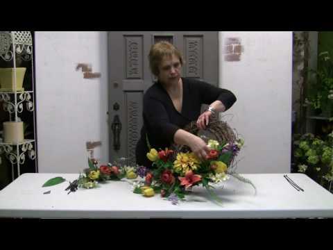 How To Make A Silk Flower Door Wreath
