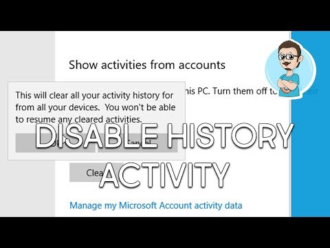 Windows 10 | Disable Timeline Activity History!