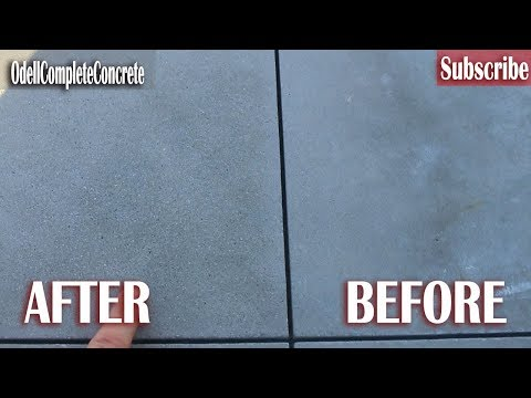How to SandBlast Concrete for a SandWash Concrete Finish