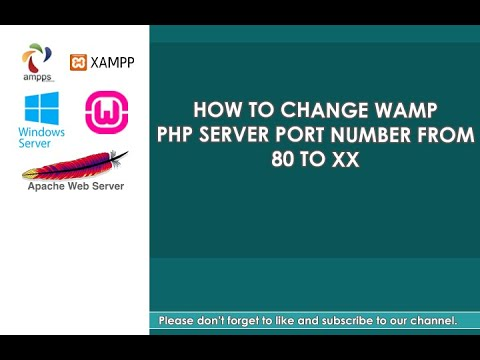 How to change Apache WAMP port number