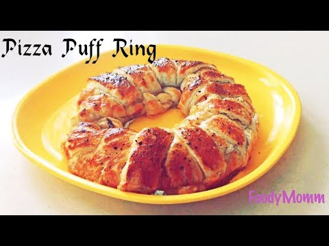 Puff Pizza Crescent Ring | How to Make Tasty Pizza Ring | Easy Pizza Ring Recipe -FoodyMomm