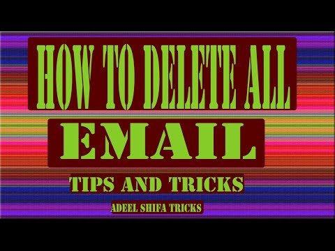Delete All Mail in Gmail AT ONCE...THE EASY WAY adeel shfa tricks