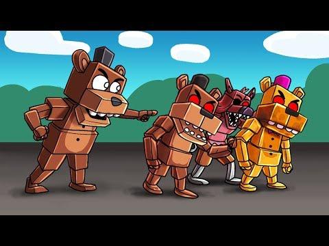 Minecraft - SECRET FNAF ANIMATRONIC ARMY! (FNAF Creators)