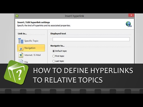 How to define hyperlinks to relative topics (Step-by-step guide)