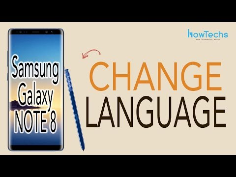 Samsung Galaxy Note 8 - How to Change Language