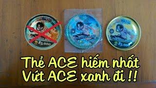 Thẻ Toonies Onepiece : Thẻ Ace cực hiếm. Hiếm hơn Ace xanh.