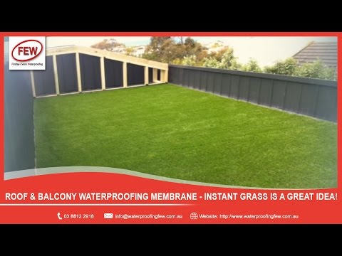 Roof & Balcony Waterproofing Membrane - Instant Grass is a great idea!