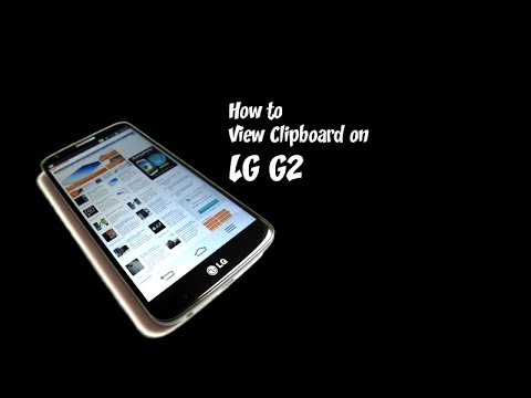 LG G2   How to View Clipboard on LG G2