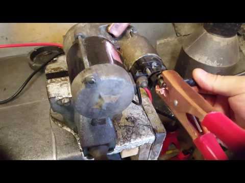 Bench testing a starter motor