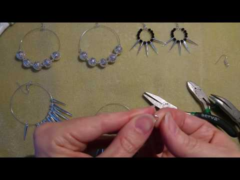 DIY hoop earrings from memory wire