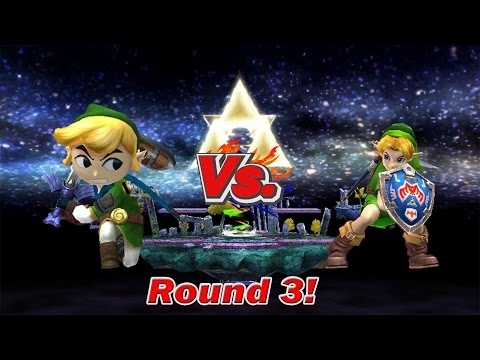 SSBB Wii U Modded Battles: Toon Link Vs Young Link (Round 3!)