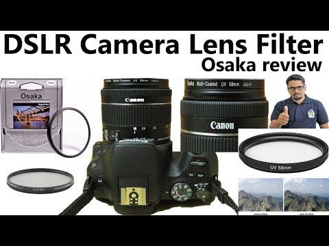 Hindi || DSLR Camera Lens Filter Osaka review | UV & Polarise