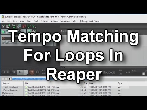 Loop Tempo Matching in Reaper