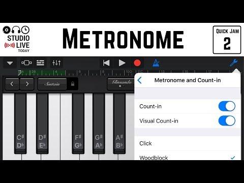 Metronome in GarageBand iOS - Setting a Click Track/Metronome (iPhone/iPad) - Quick Jam #2