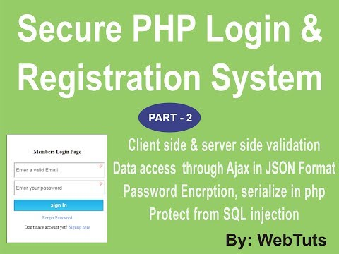 PHP Secure Login and Registration Script by webtuts