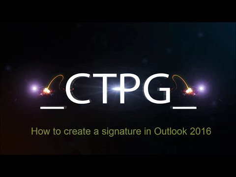 How to create a signature in Outlook 2016