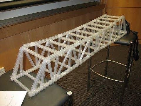 Surprising Way to Build a Straw Bridge