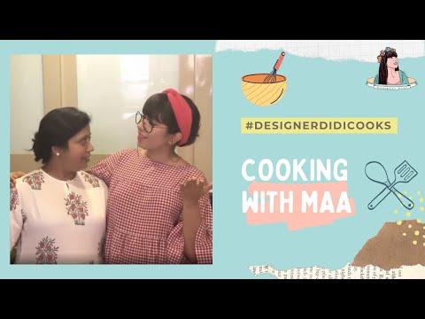 Baking An Eggless Chocolate Cake With Maa | With Love Inaaya