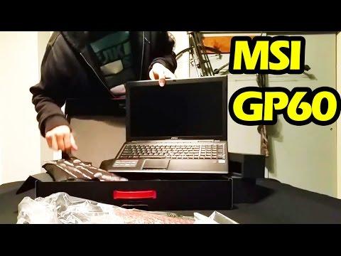 Unboxing MSI GP60 Gaming Laptop
