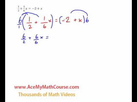 Equations (Variables on Both Sides with Fractions) - Quick Explanation!