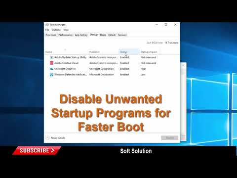 Disable Unwanted Startup Programs on Windows 10 for Faster Boot