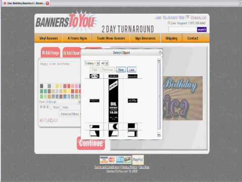 Make a Vinyl Banner Online Tutorial