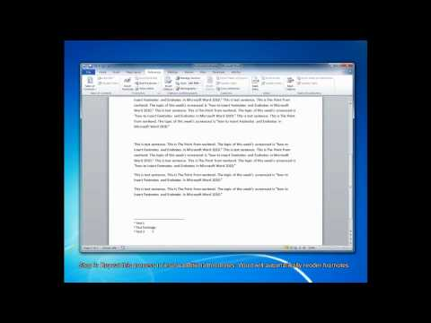 How To Create Footnotes and Endnotes in Microsoft Word 2010