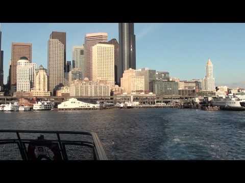 Washington Ferry Tacoma Leaving Seattle