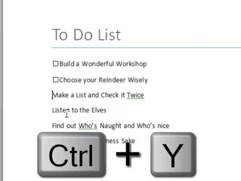 How to build a Check List in Microsoft Word