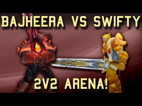 Bajheera vs Swifty 2v2 Arena Showdown - Epic Warrior Battle ft. Poisty and Hotted! :D