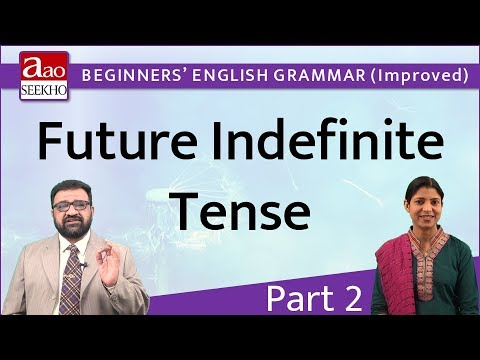 Future Indefinite Tense - Part 2 - Beginners' English Grammar (Improved) - Video 17