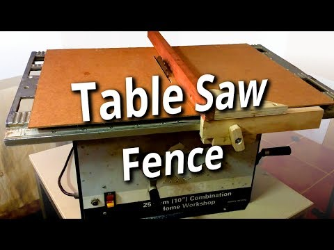 Home Made Table Saw Fence Upgrade (100 Subs!)