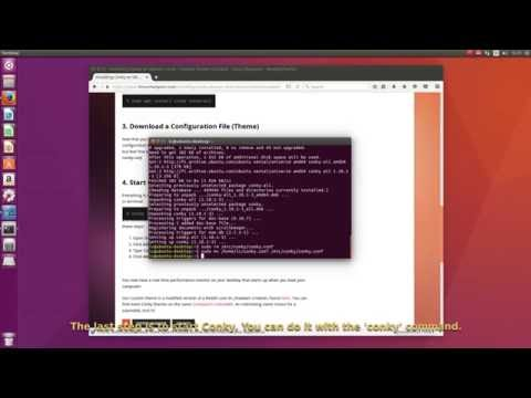 Installing Conky Performance Monitor on Ubuntu 16 04
