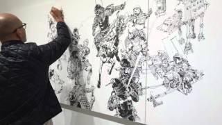 Kim Jung Gi Japanese Star Wars Mashup Live Paining At Art Whino Time