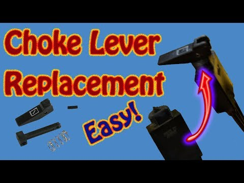 How to Replace a Broken Choke Lever on a Polaris Snowmobile or ATV - DIY Choke Lever Replacement