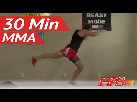 30 Min Knockout MMA Workout at Home - MMA Conditioning - MMA Workouts Exercises UFC Training