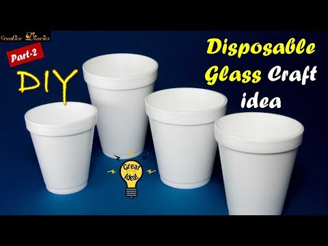 Very Easy way to use Disposable Cups I Craft ideas I Part-2 I Creative Diaries