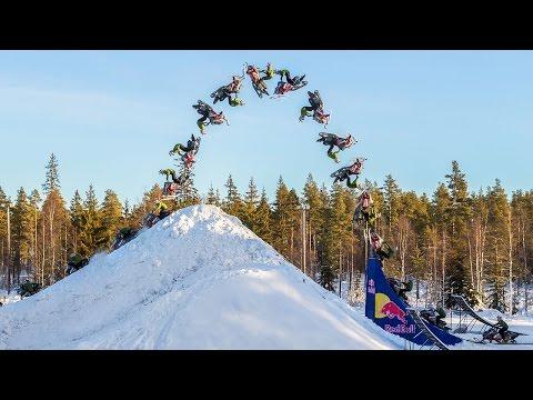 Daniel Bodin Lands Huge Double Backflip on a Snowmobile!